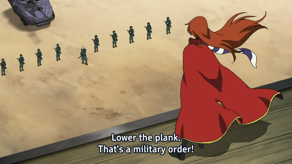 Lower the plank. That's a military order!